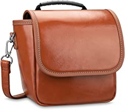 Fintie Carrying Case Compatible with Polaroid Originals OneStep 2 VF Instant Film Camera - Premium Vegan Leather Travel Bag Soft Pouch w/ Removable Strap & Pocket (Brown)
