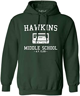 NuffSaid Hawkins Middle School AV Club Hoodie/Hooded Sweatshirt Sweater - Unisex Fit