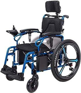 Sillas de ruedas eléctricas para adultos Sillas de ruedas eléctricas, sillas de ruedas for trabajo pesado eléctrico con apoyo for la cabeza, plegable y ligero silla de ruedas eléctrica, la palanca de