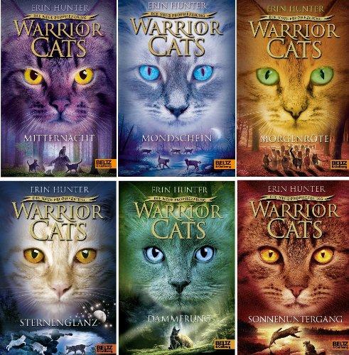 Warrior Cats Staffel II Die neue Prophezeiung Band 1 - 6 gebundene Ausgaben (1. Mitternacht + 2. Mondschein + 3. Morgenröte + 4. Sternenglanz + 5. Dämmerung + 6. Sonnenuntergang)