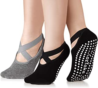 Yoga Socks for Women Non-Slip Socks with Grips for Pilates Barre Ballet Fitness