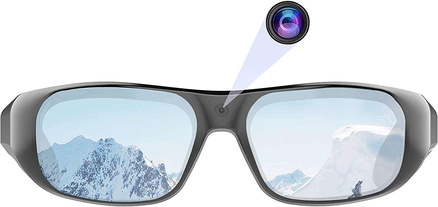 OhO sunshine Waterproof Video Audio Sunglasses,Built-in Memory with Ultra 1080P Full HD Video Recording Camera and Polarized UV400 Protection Safety Lenses,Unisex Sport Design