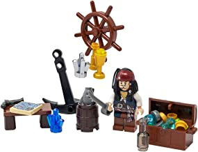 LEGO Jack Sparrow with Sword, Treasure, Map, and More - Custom Pirate Minifigure