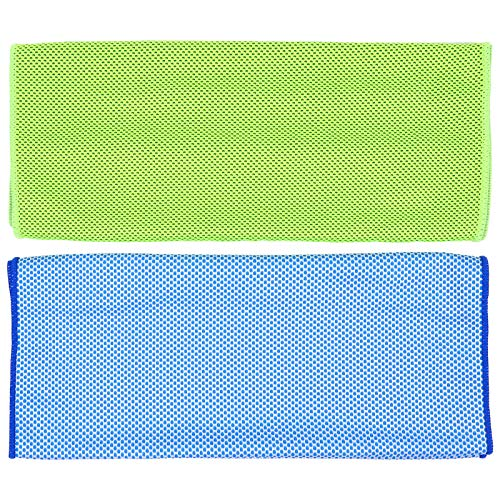 ABOOFAN 2 Pieces Sport Towel Rapid Cooling Ice Face Towel Quick- Dry Beach Towels for Yoga