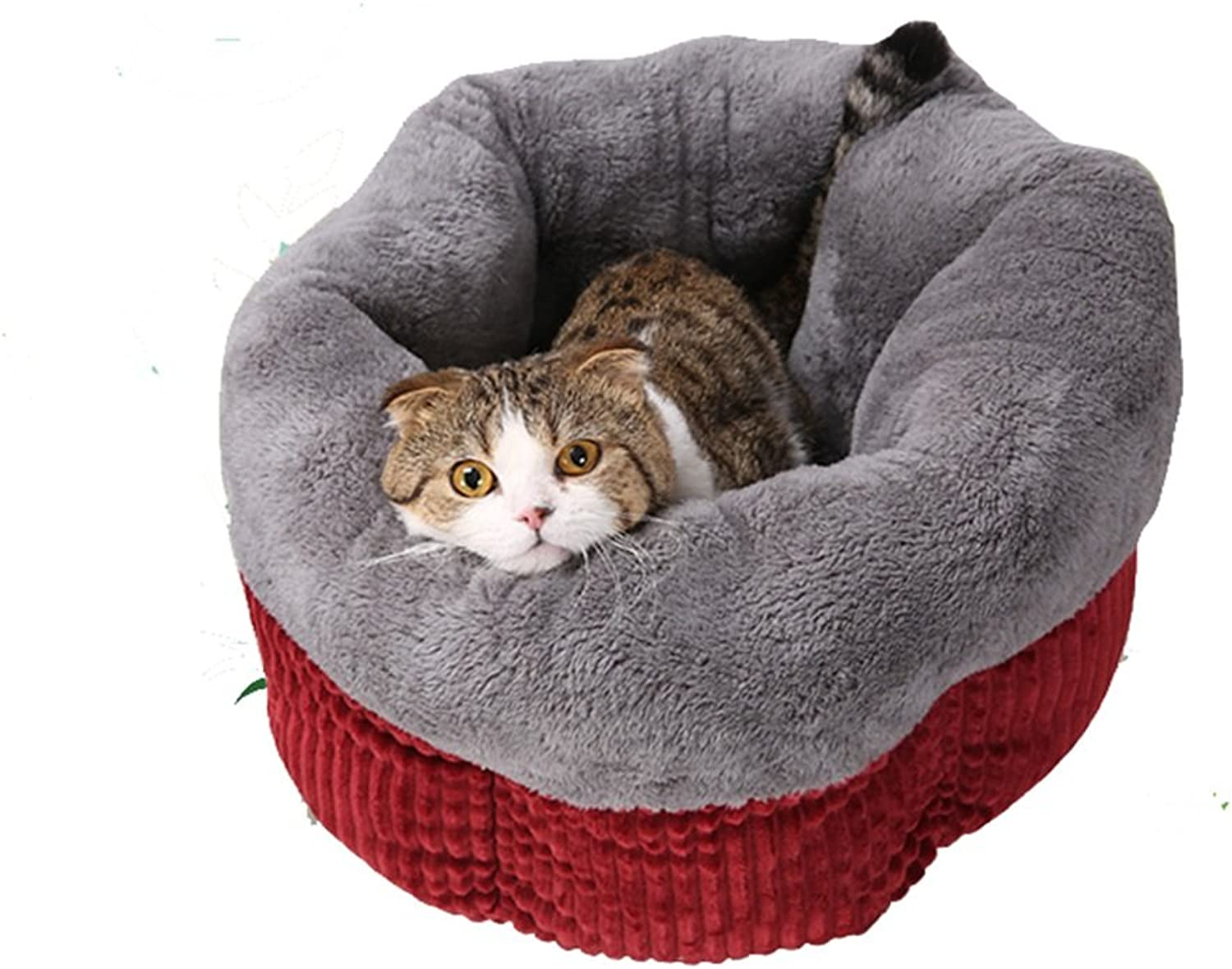 RUNWEI Cat Supplies Closed Cat Sleeping Bag Hexagon Cat Litter Comfortable Kennel