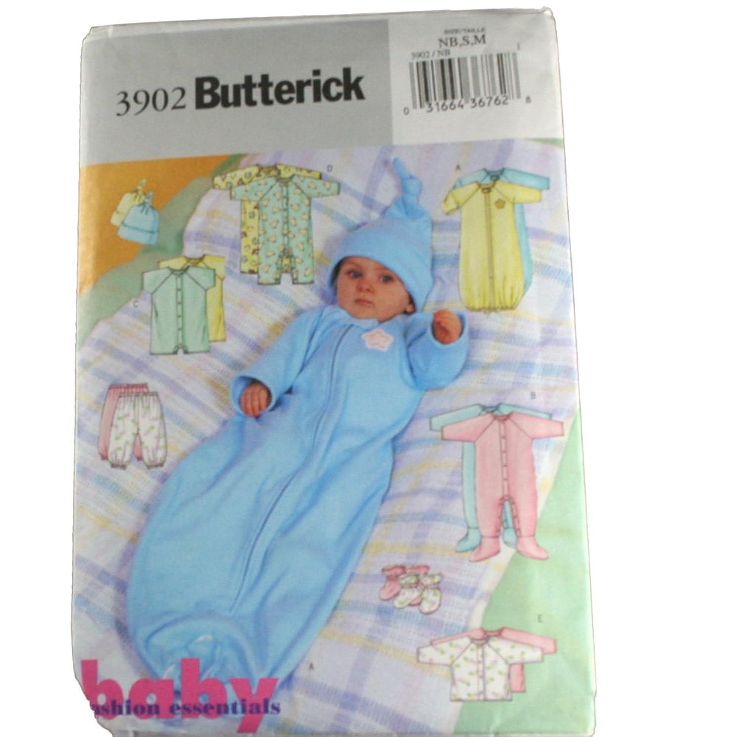 Butterick Sewing Pattern 3902 Infant's Layette Sz NB,S,M