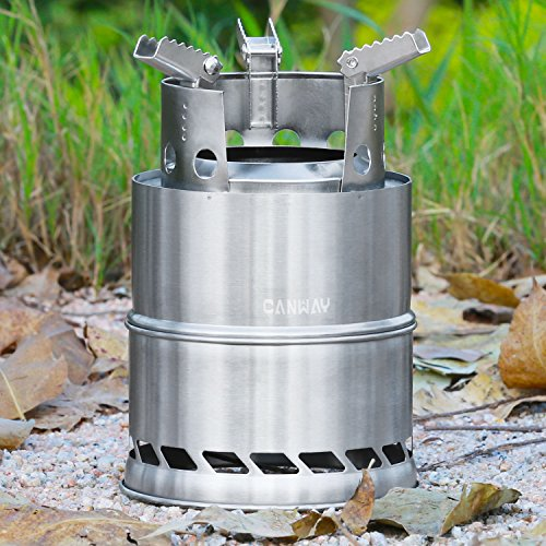 Product Image 9: CANWAY Camping Stove, Wood Stove/Backpacking Stove,Portable Stainless Steel Wood Burning Stove with Nylon Carry Bag for Outdoor Backpacking Hiking Traveling Picnic BBQ