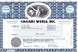 1972 RARE EXOTIC ORIGINAL 70's VINTAGE CAESARS WORLD STOCK CERTIFICATE! To $250 ELSEWHERE! SAVE 95%!! Share Amound May Vary Choice About Uncirculated