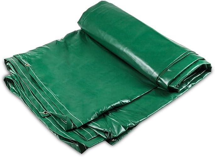 GLJ Toile Imperméable épaissie, Tissu Imperméable à l'eau, Tissu D'auvent, Trois Anti-Tissu, Bache, Bache, Bache De Prougeection Solaire bache (Couleur   vert, Taille   6x8m)