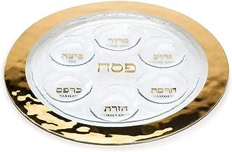 Judaica Challah Platter with Gold Rim by Annieglass ANNIE GLASS