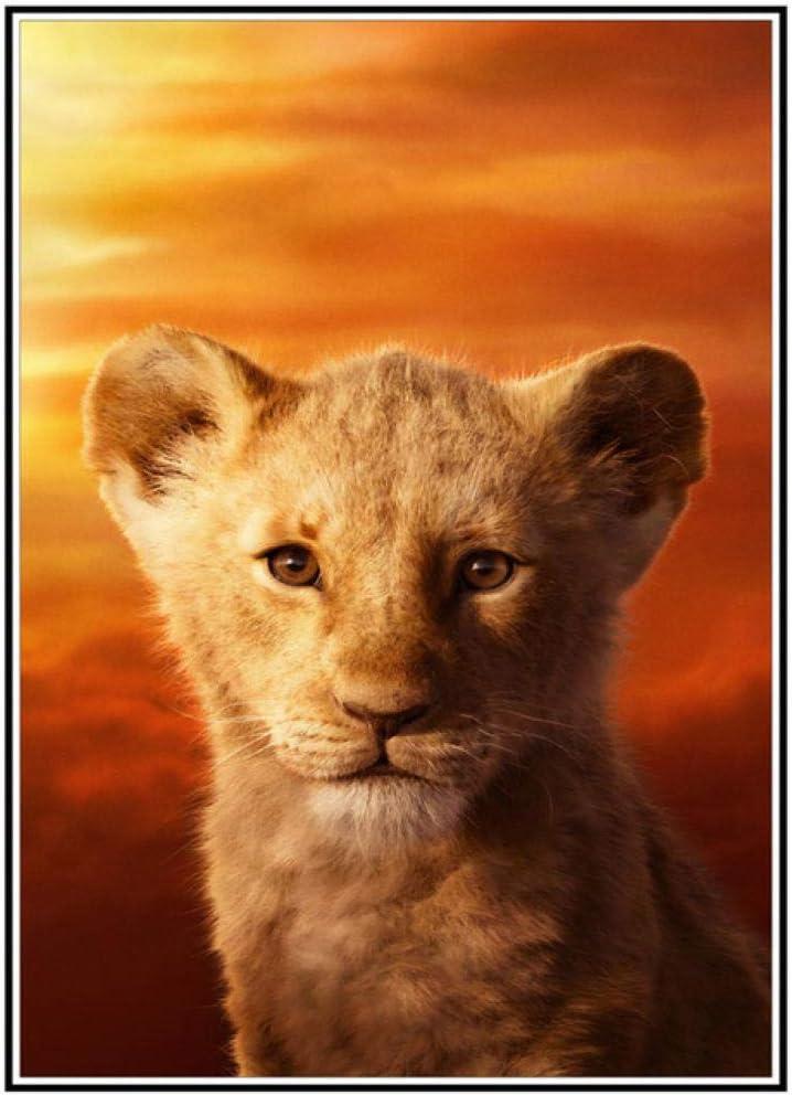 Cartoon Animal Lion DIY 5D Max 73% OFF Diamond Stitch Kit Dia Cross Raleigh Mall Painting