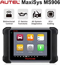 Autel Scanner Maxisys MS906 Automotive Diagnostic Scan Tool (Advanced Version of MaxiDAS DS708 DS808 MK906) with ECU Coding, Key Coding, Bi-Directional Control, Oil Reset, ABS, SRS, DPF, EPB, TPMS