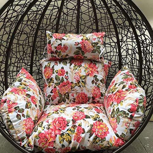 Hangende mand stoel kussen, vogel Nest Swing stoel kussen met hoofd kussen dikke Patio hangmat opknoping outdoor stoel terug Mat-i (kleur: O)
