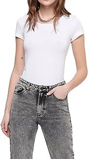 ONLY Damen T-Shirt Onllive Love Life Basic Damenshirt
