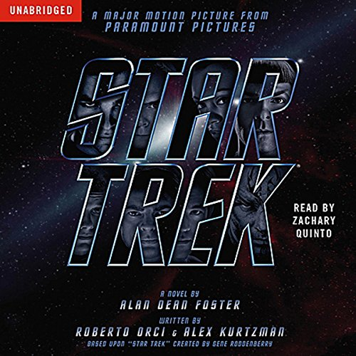 Star Trek Movie Tie-In                   By:                                                                                                                                 Alan Dean Foster                               Narrated by:                                                                                                                                 Zachary Quinto                      Length: 8 hrs and 2 mins     917 ratings     Overall 4.5