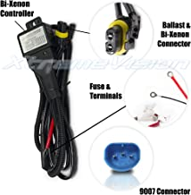 XtremeVision 9007 Hi/Lo Bi-Xenon Controller HID Battery Relay Wiring Harness 12V 35W/55W