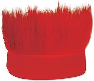 Beistle Hairy Headband, Red (60277-R)