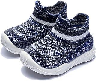 Sponsored Ad - Baby Sneaker,Infant Non-Slip Soft Comforter Toddler Walkers for Boy Girls Elastic Sock Memory Insole Breath...