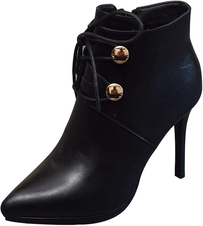 LBTSQ-Dünn Und Hochhackigen Schuhen 9Cm Baumwolle Schuhe Wilde Joggen Spitzen Kurze Stiefel Gut Ferse Schuhe Wasserdicht Plattform Ma Dingxue.