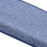 havatex Stufenmatte/Treppenmatte Torronto | 15 Stück - schadstoffgeprüft & pflegeleicht | robust strapazierfähig | Treppe Treppenschutz Stufen Stufenschoner, Farbe:Hellblau - 4
