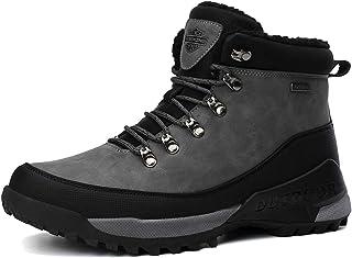 AX BOXING Bottes Hiver Homme Bottines Marche Ajouter Coton Garder Chaud Chaussure Randonnee Extérieur Antidérapant Chaussu...