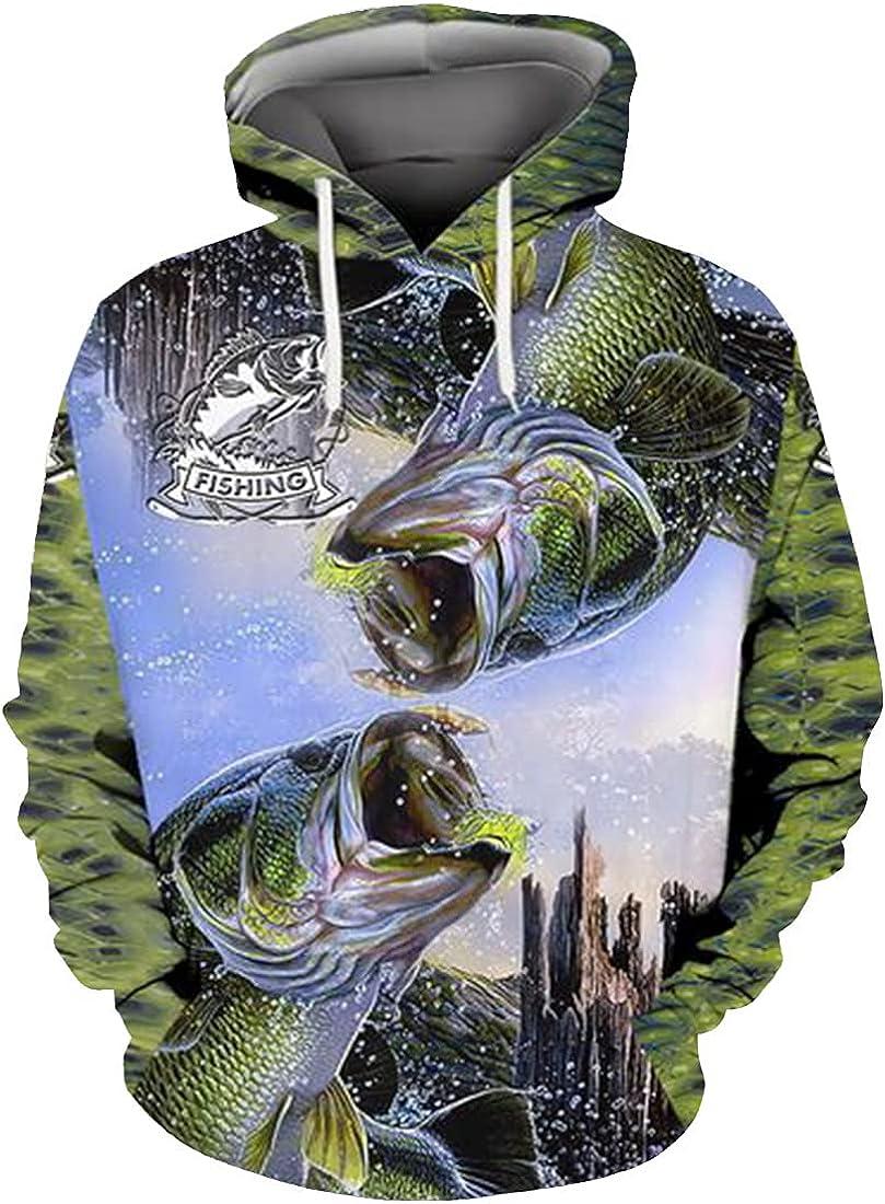 Fishing Hoodie, Lion Hoodies For Men Women - Warm Brushed Fleece Layer Inside - Pullover Long Sleeve Hooded Sweatshirt 49