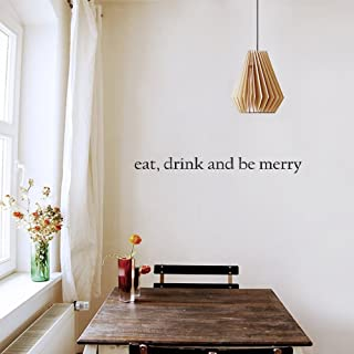 Home Quotes Wall Stickers Eat, Drink, and Be Merry for Kitchen Family Decals