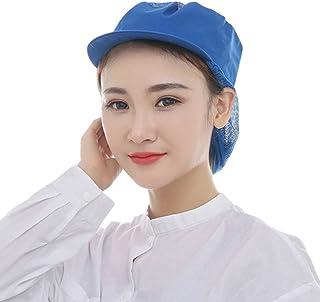 Enerhu Chef Cap Mesh Hat Breathable Adjustable Cook Mesh Cap Universal Men Women
