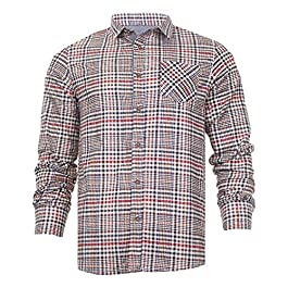 Brave Soul Mens Jack Checked Long Sleeve Check Cotton Lumberjack Casual Shirt