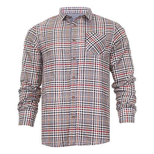 Brave Soul Mens Jack Checked Long Sleeve Check Cotton Lumberjack Casual Shirt