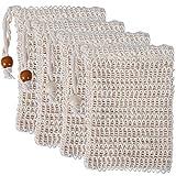 UCEC 4x Sisal Seifensäckchen, SäckchenSeife Natur Aufschäumen und Trocknen der Seife, Peeling,...