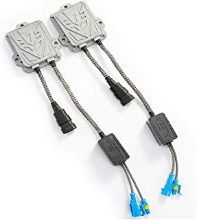 HYB Slim Digital HID Ballast 55W For HID kit H11 H7 H8 H9 H4 H1 9005 9006 Universal Fit (Pack of 2)