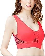 ASKSA Sportbeha voor dames, yoga, hardlopen, sportbeha, ondergoed, doorbroken mesh, ademend, oversized fitness, sneldrogen...