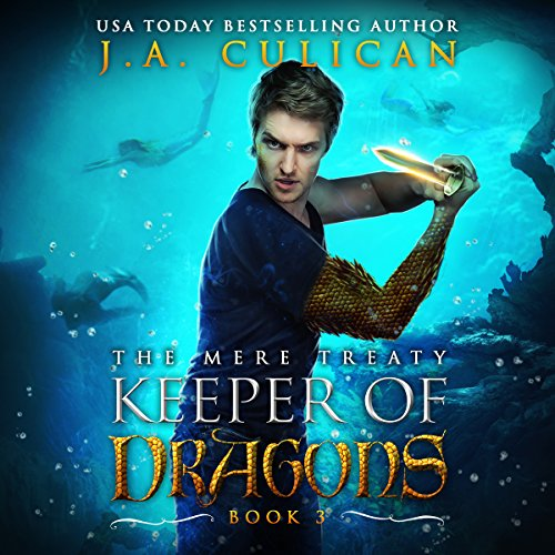 Keeper of Dragons: The Mere Treaty     Keeper of Dragons, Book 3              By:                                                                                                                                 J.A. Culican                               Narrated by:                                                                                                                                 Zachary Hetrick                      Length: 4 hrs and 48 mins     7 ratings     Overall 4.9