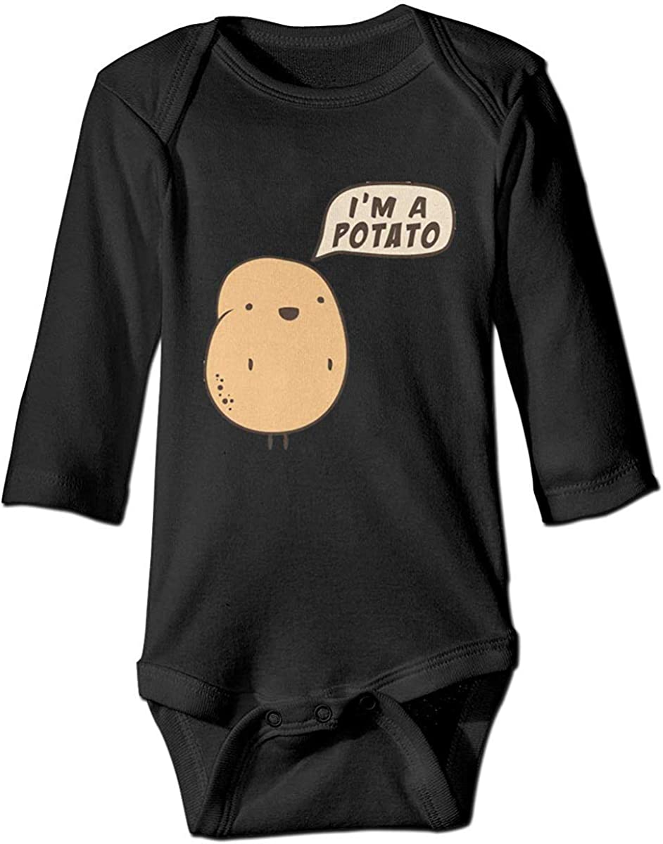 FOEVERLTF I'm A Potato Cute Bodysuit Toddler Rompers for Infant Unisex Baby Long Sleeve