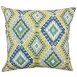 La Almohada Collection jinja Ikat–Funda para cojín, Color Amarillo