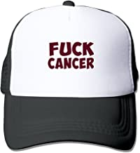 ZXM Caps Fuck Cancer Summer Printed Adjustable Stylish Personalized Casual Mesh Hats