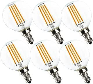 LED Globe Light Bulbs G16.5,The 3rd Generation G16 1/2 Dimmable LED Bulbs,Mini Size, UNCLELIGHT,E12 Base 3.5W 2700K 370 Lumens Edison Light Bulbs, 40W Equivalent LED Bulb Lights, UL Listed (6 Pack)
