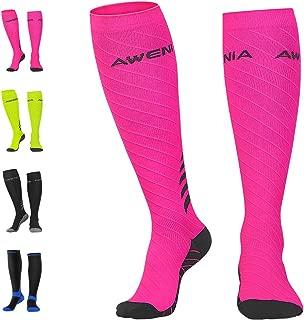 Awenia Calcetines de Compresión Deportivos Medias Transpirables para Hombres y Mujeres, para Crossfit Fútbol Avion Viaje Enfermera