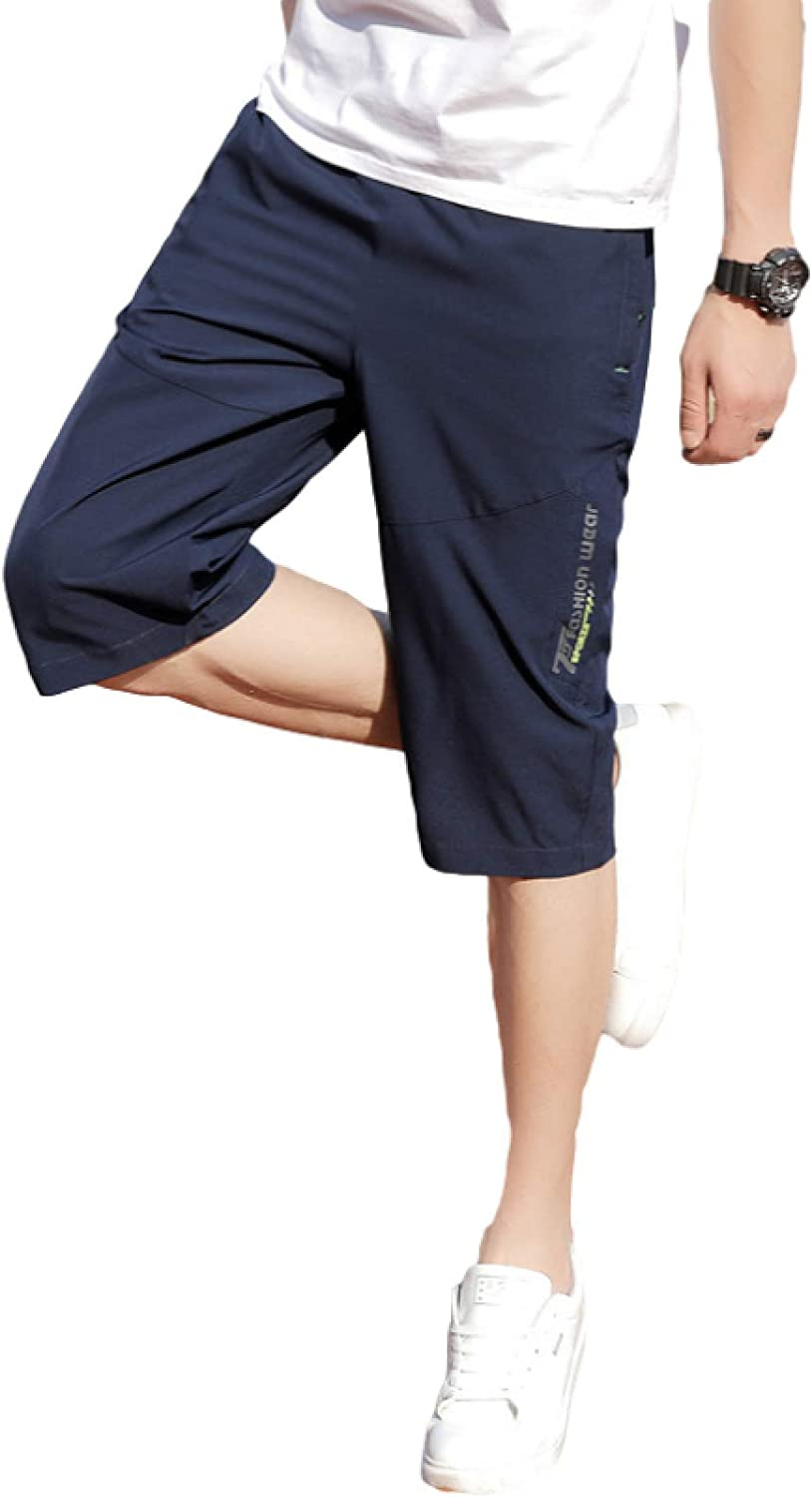Segindy Men's Loose Fit Shorts Summer Fashion Large Size Casual Comfortable Elasticated