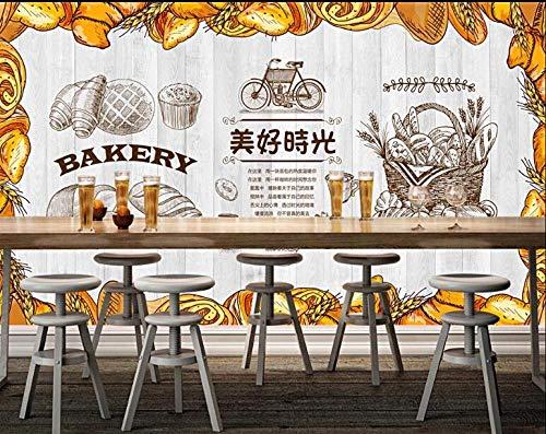 Fototapete Bäckerei*300cmx210cm(118.1x82.7inch) Wandplakat Tapete Dekor Wandbild Wohnkultur für Wohnzimmer Schlafzimmer Küche Badezimmer Restaurant