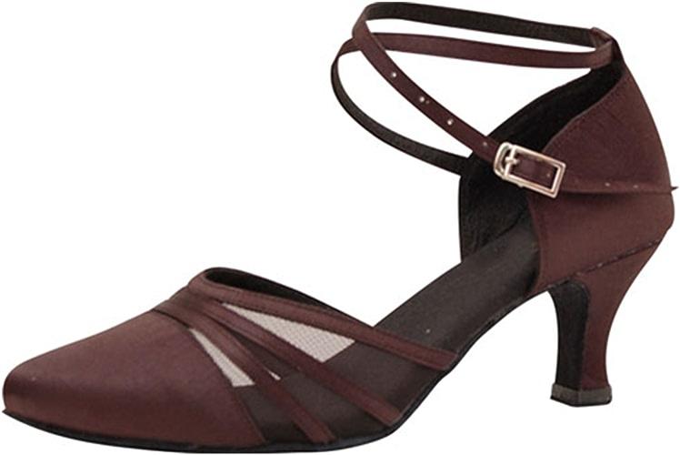 LEIT YFF Cadeaux Femmes Dance Danse Danse Latine Dance Tango Chaussures 6CM,marron,39
