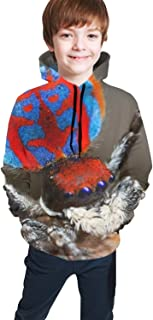 Unisex Fashion 3D Digital Printed Pullover Hoodies Boys GirlsVintage Floral