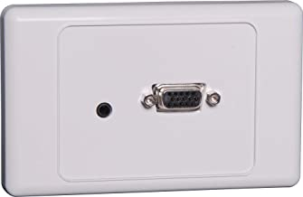 Generic VGA 3.5mm Wallplate Dual Cover - Fly Leads