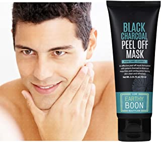 EARTHY BOON Charcoal Face Mask Peel Off Blackhead for Girls and Boys -Paraben Free - Activated Coconut Charcoal Mask Cream- 60gm