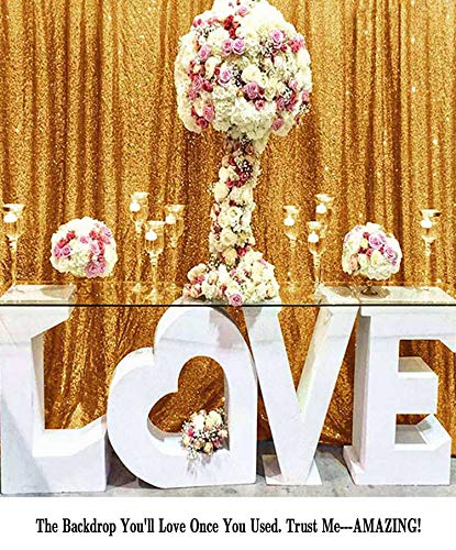 ShiDianYi 4FTX6FT-Gold-SEQUIN Photo Backdrop,Party/Prom Photography Background,Wedding Photo Booth (Gold)