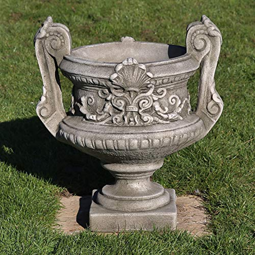 Pair of Handled Urns | Reconstituted Stone Planter Pot Concrete Garden Ornament