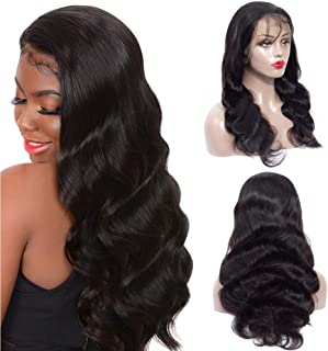 9A Body Wave Lace Front Wigs Human Hair 13x4 Lace Front Wigs For Black Women 180% Denisty Pre Plucked Hairline Body Wave Human Hair Wigs with Baby Hair(24