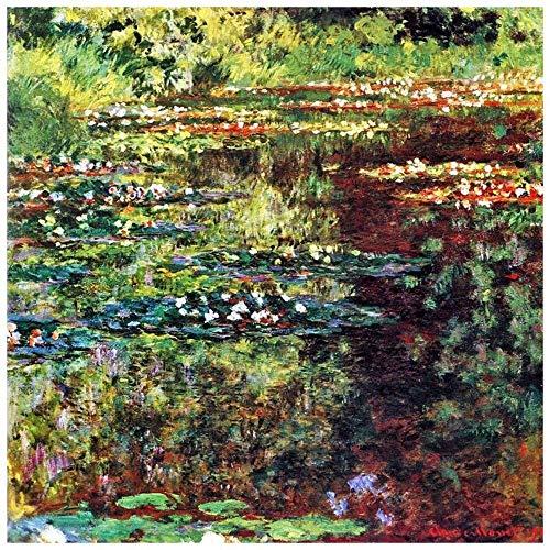 Legendarte Cuadro Lienzo, Impresión Digital - El Estanque De Waterlily - Claude Monet cm. 90x90 - Decoración Pared