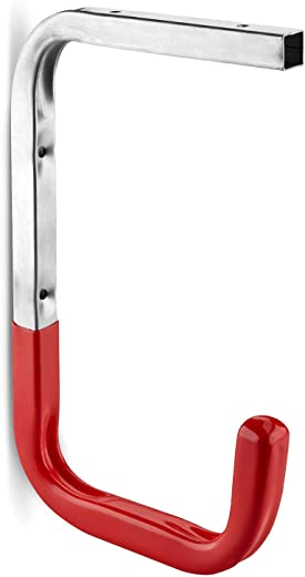 5 x rot gummierter OrgaTech Wandhaken 255 x 150 mm Deckenhaken mit 30 Kg Tragkraft Regalträger Gerätehalter